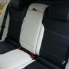Черно-белые авточехлы с белой строчкой для Skoda Octavia A5 №9