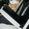 Черно-белые авточехлы с белой строчкой для Skoda Octavia A5 №10