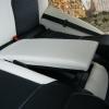 Черно-белые авточехлы с белой строчкой для Skoda Octavia A5 №11