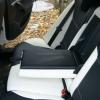 Черно-белые авточехлы с белой строчкой для Skoda Octavia A5 №14