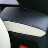 Черно-белые авточехлы с белой строчкой для Skoda Octavia A5 №19