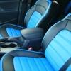 Авточехлы из черной и синей экокожи для Kia Sportage 3 №1