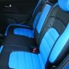 Авточехлы из черной и синей экокожи для Kia Sportage 3 №6