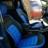 Авточехлы из черной и синей экокожи для Kia Sportage 3 №2
