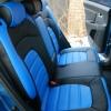 Авточехлы из черной и синей экокожи для Kia Sportage 3 №3