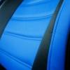 Авточехлы из черной и синей экокожи для Kia Sportage 3 №4