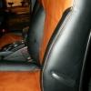 Черно-коричневые авточехлы для SsangYong Action №2