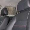 Черные чехлы с красной строчкой для Subaru Outback / Legacy