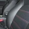 Черные чехлы с красной строчкой для Subaru Outback / Legacy №3