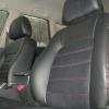Черные чехлы с красной строчкой для Subaru Outback / Legacy №4