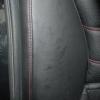 Черные чехлы с красной строчкой для Subaru Outback / Legacy №17