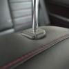 Черные чехлы с красной строчкой для Subaru Outback / Legacy №19