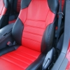 Красно-черные авточехлы для Toyota Сelika №1