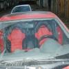 Красно-черные авточехлы для Toyota Сelika №2