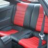 Красно-черные авточехлы для Toyota Сelika №5