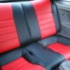 Красно-черные авточехлы для Toyota Сelika №7