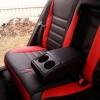 Чехлы для Toyota Auris из черной и красной экокожи №2