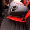 Чехлы для Toyota Auris из черной и красной экокожи №3