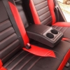 Чехлы для Toyota Auris из черной и красной экокожи №5