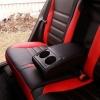 Чехлы для Toyota Auris из черной и красной экокожи №6
