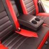 Чехлы для Toyota Auris из черной и красной экокожи №7