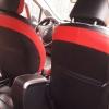 Чехлы для Toyota Auris из черной и красной экокожи №10