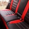 Чехлы для Toyota Auris из черной и красной экокожи №11