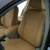 Бежевые авточехлы из экокожи для Toyota Avensis