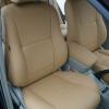 Бежевые авточехлы из экокожи для Toyota Avensis №2