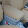 Бежевые авточехлы из экокожи для Toyota Avensis №3