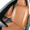 Коричневые авточехлы уровня перетяжки для Toyota Corolla