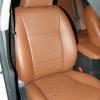 Коричневые авточехлы уровня перетяжки для Toyota Corolla №8