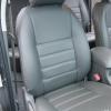 Серые авточехлы из экокожи для Toyota Hilux 2013
