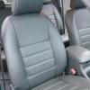 Серые авточехлы из экокожи для Toyota Hilux 2013 №1