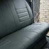 Серые авточехлы из экокожи для Toyota Hilux 2013 №5