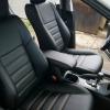 Чехлы для Toyota Rav 4 из черной  экокожи №1