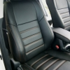 Чехлы для Toyota Rav 4 из черной  экокожи №3