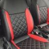 Черно-красные авточехлы для Volkswagen Jetta Trendline №1