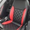 Черно-красные авточехлы для Volkswagen Jetta Trendline №2