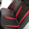 Черно-красные авточехлы для Volkswagen Jetta Trendline №4