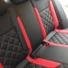 Черно-красные авточехлы для Volkswagen Jetta Trendline №5