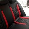 Черно-красные авточехлы для Volkswagen Jetta Trendline №8