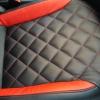 Черно-красные авточехлы для Volkswagen Jetta Trendline №9