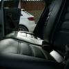 Черные чехлы из гладкой экокожи для Volkswagen Polo Sedan