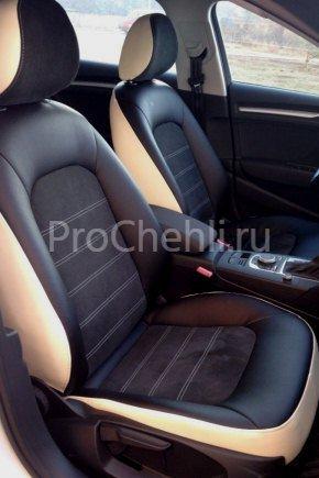 Авточехлы из черной экокожи Audi A3 8V