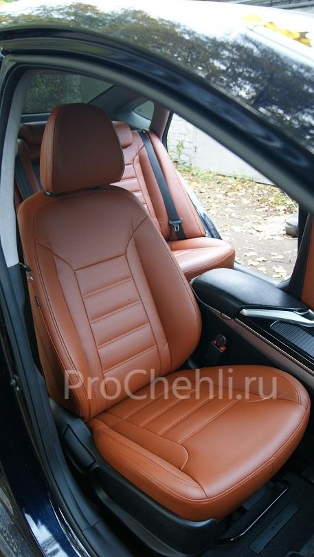 Авточехлы из экокожи Hyundai-I40