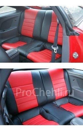 Авточехлы из черной и красной экокожи