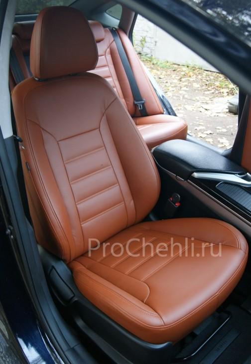 индивидуальная отстрочка сидений на коричневой экокоже