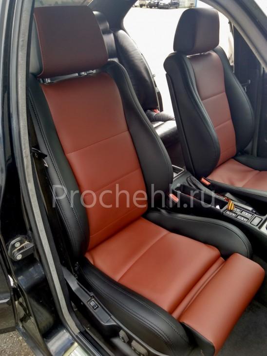 Чехлы BMW 5-er E34 салон MotorSport с эффектом перетяжки №1