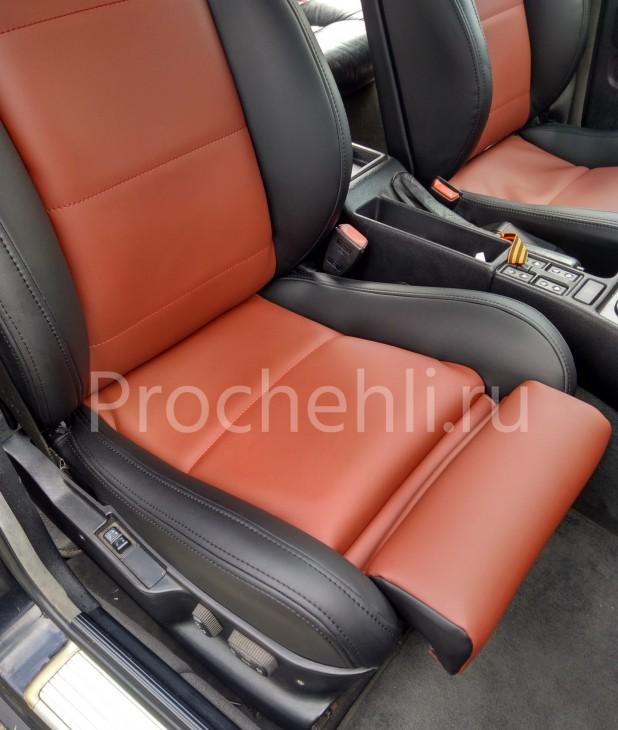 Чехлы BMW 5-er E34 салон MotorSport с эффектом перетяжки №2